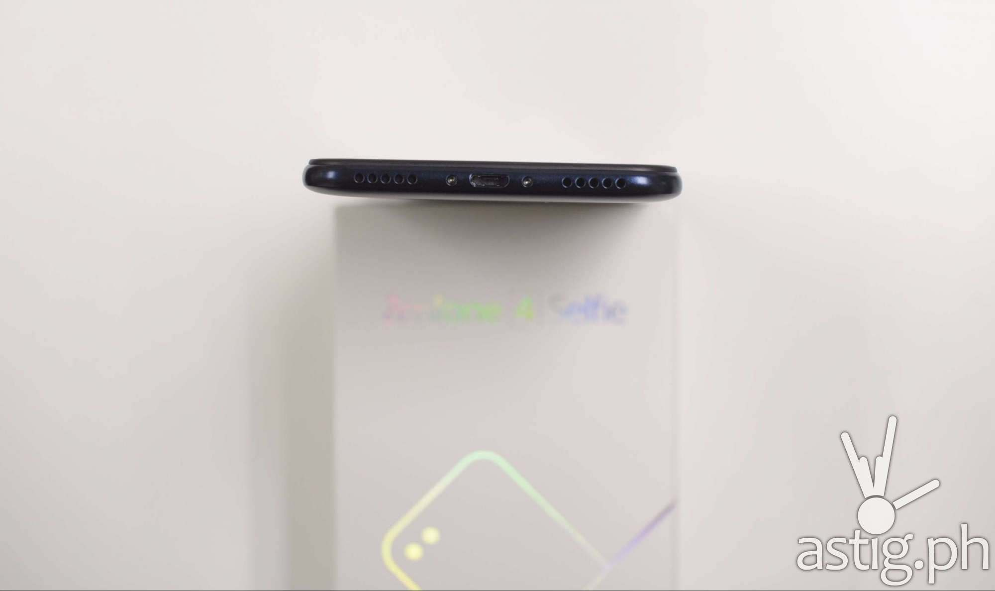 ASUS Zenfone 4 Selfie has dual speakers at the bottom