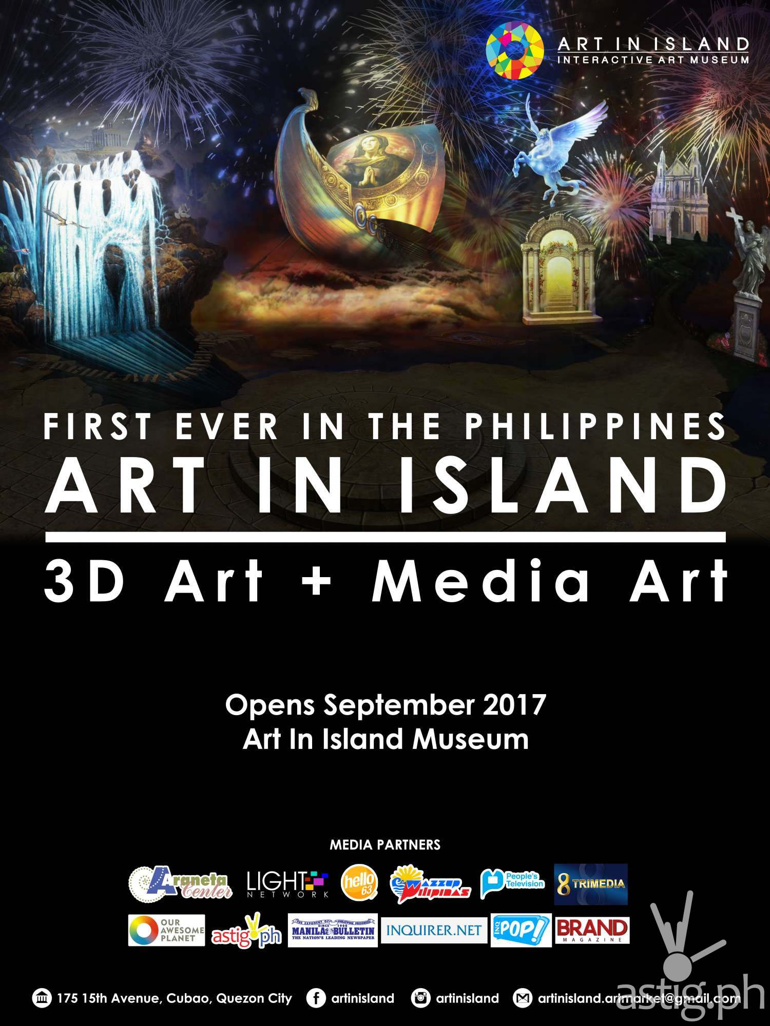 Colorful Life 2017 Art in Island Mural Competition event poster