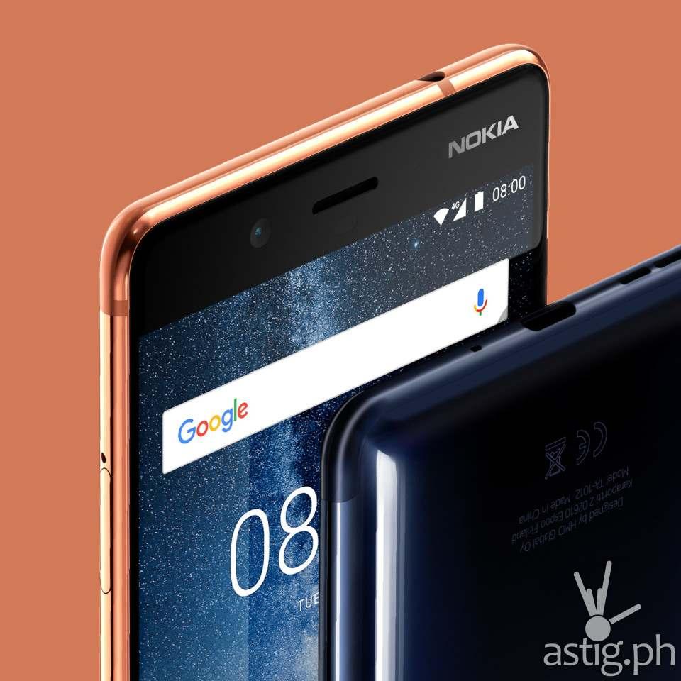 Nokia 8 close up left