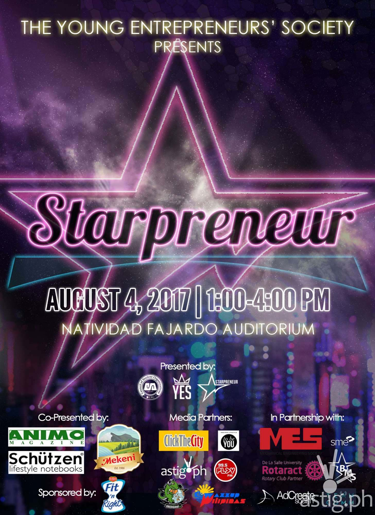 Starpreneur event poster