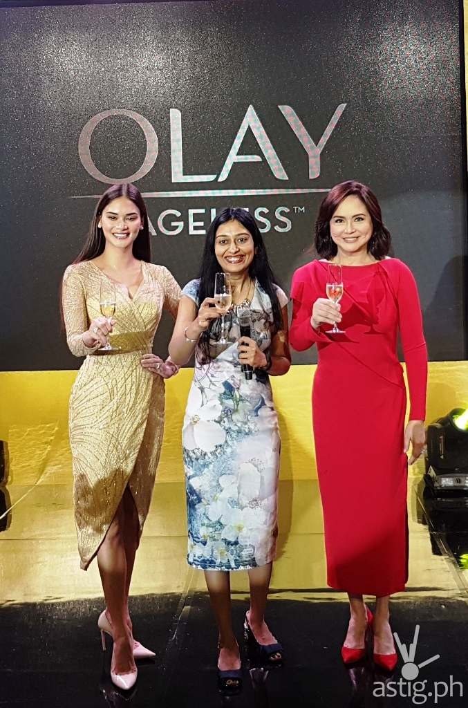 Olay White Radiance, Olay Total Effects, and Olay Regenerist Charo Santos-Concio and Pia Wurtzbach