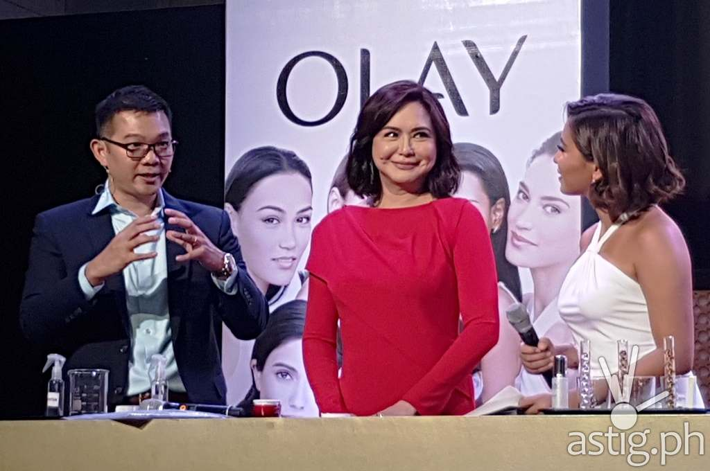 Olay White Radiance, Olay Total Effects, and Olay Regenerist Charo Santos-Concio