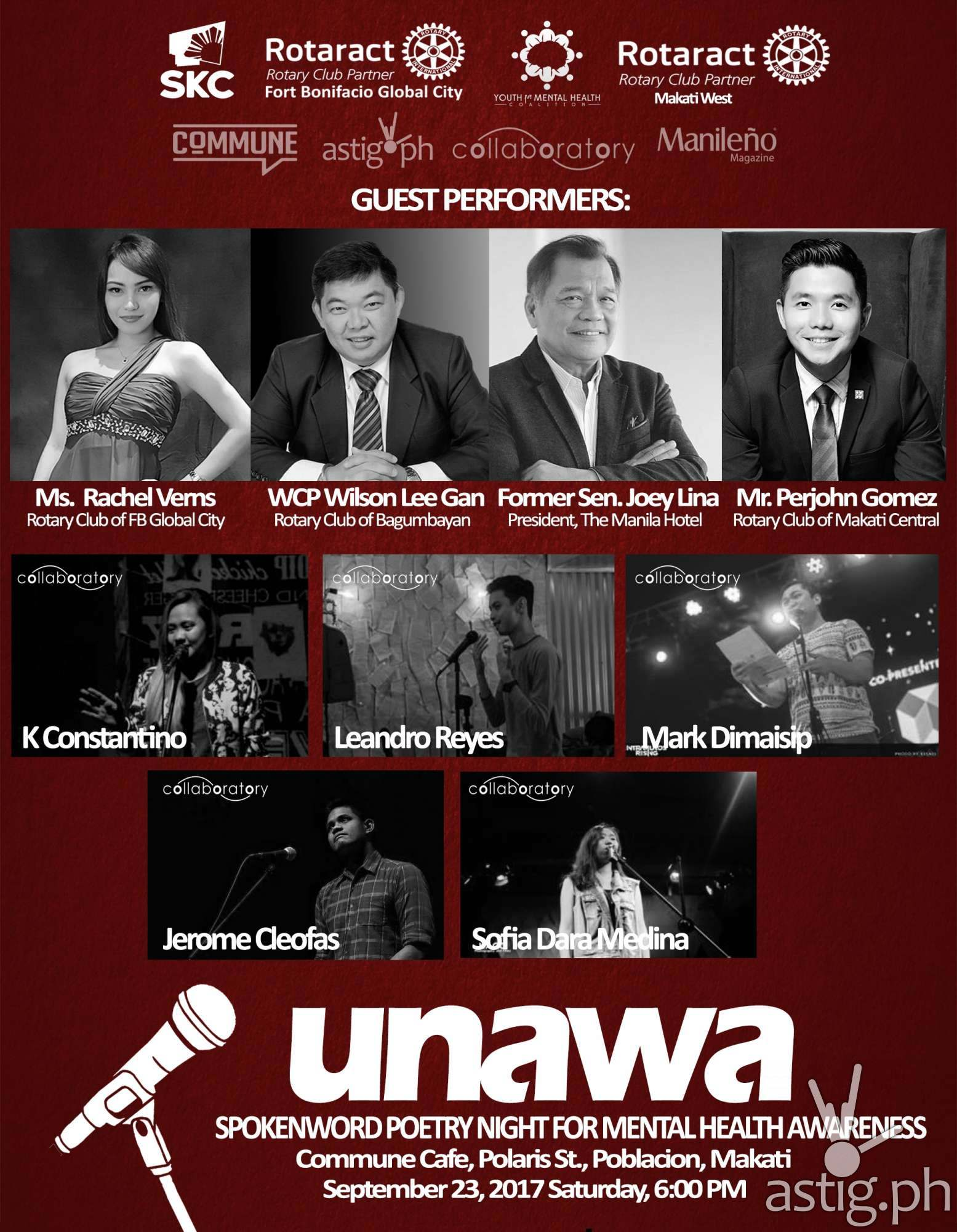 UNAWA lineup of performers