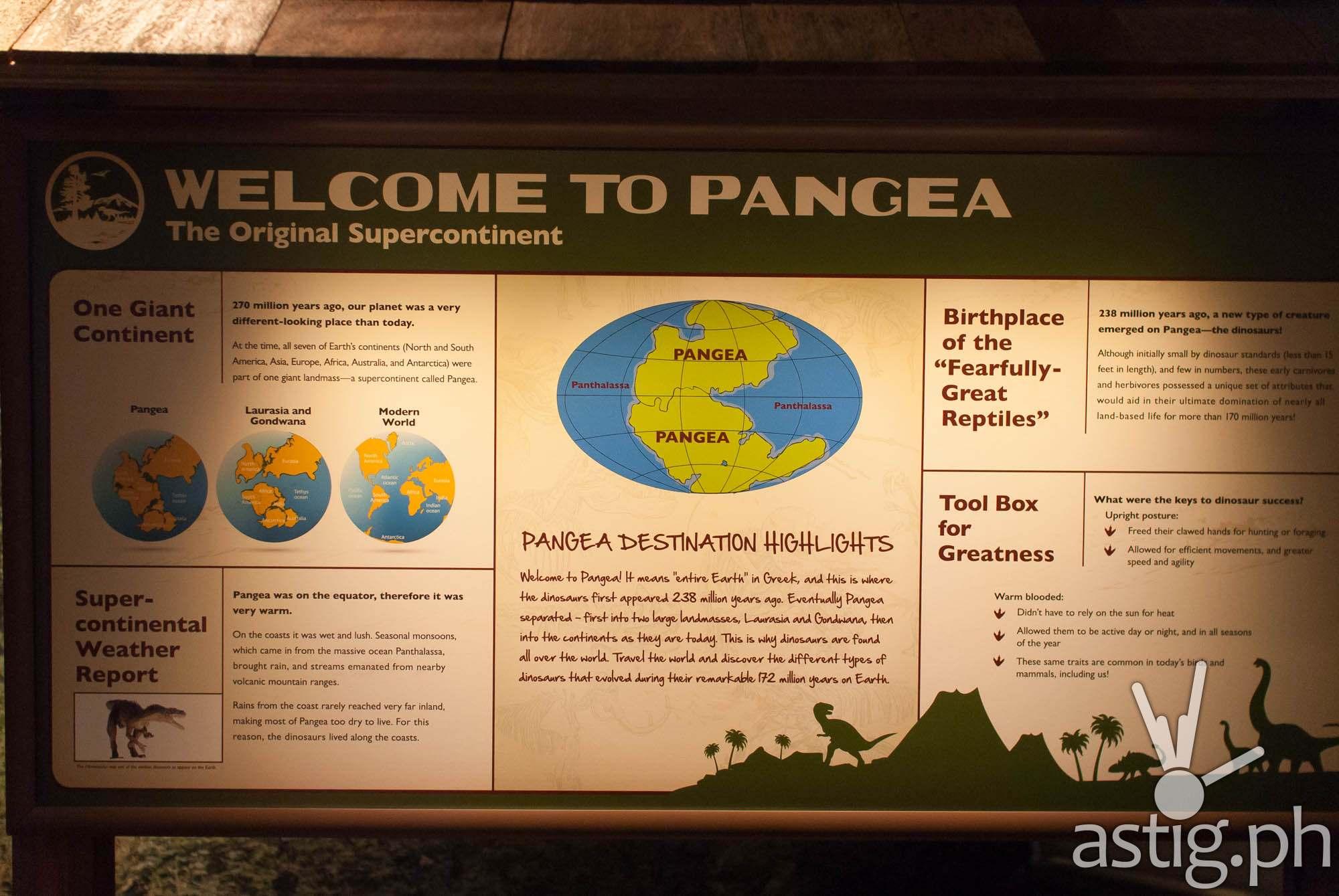 Welcome to Pangea - Dinosaurs Around The World exhibit - Mind Museum BGC