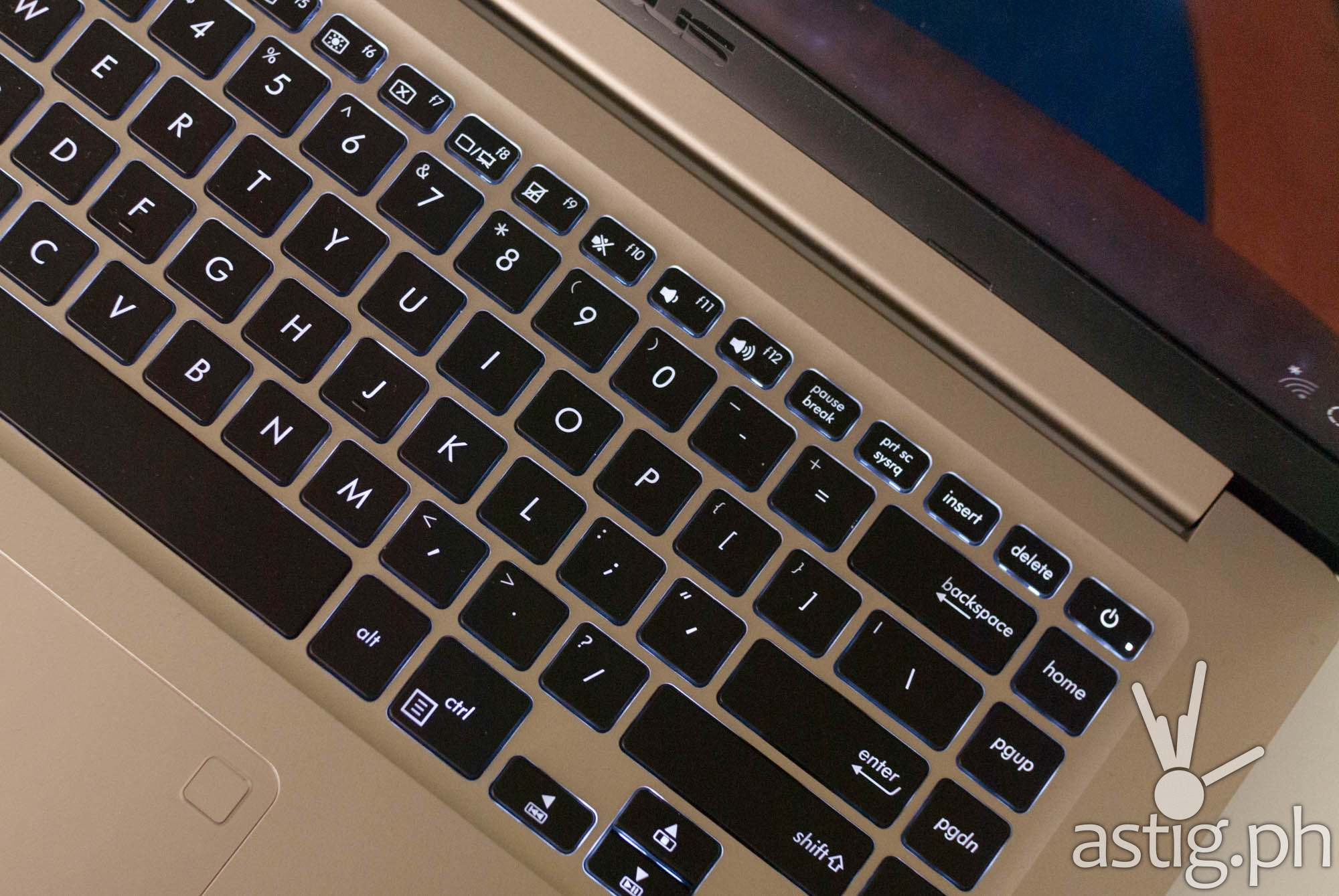 The placement of the power button beside the delete, backspace, and home buttons make it prone to accidents - ASUS VivoBook S15