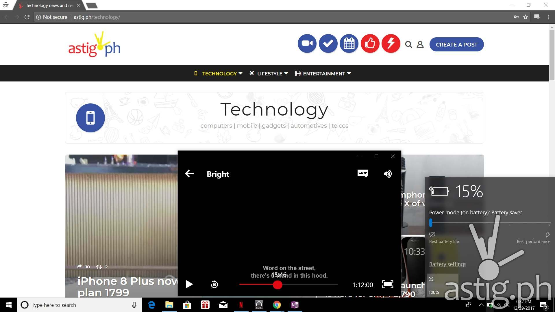 ASUS VivoBook S15 desktop screenshot low power mode