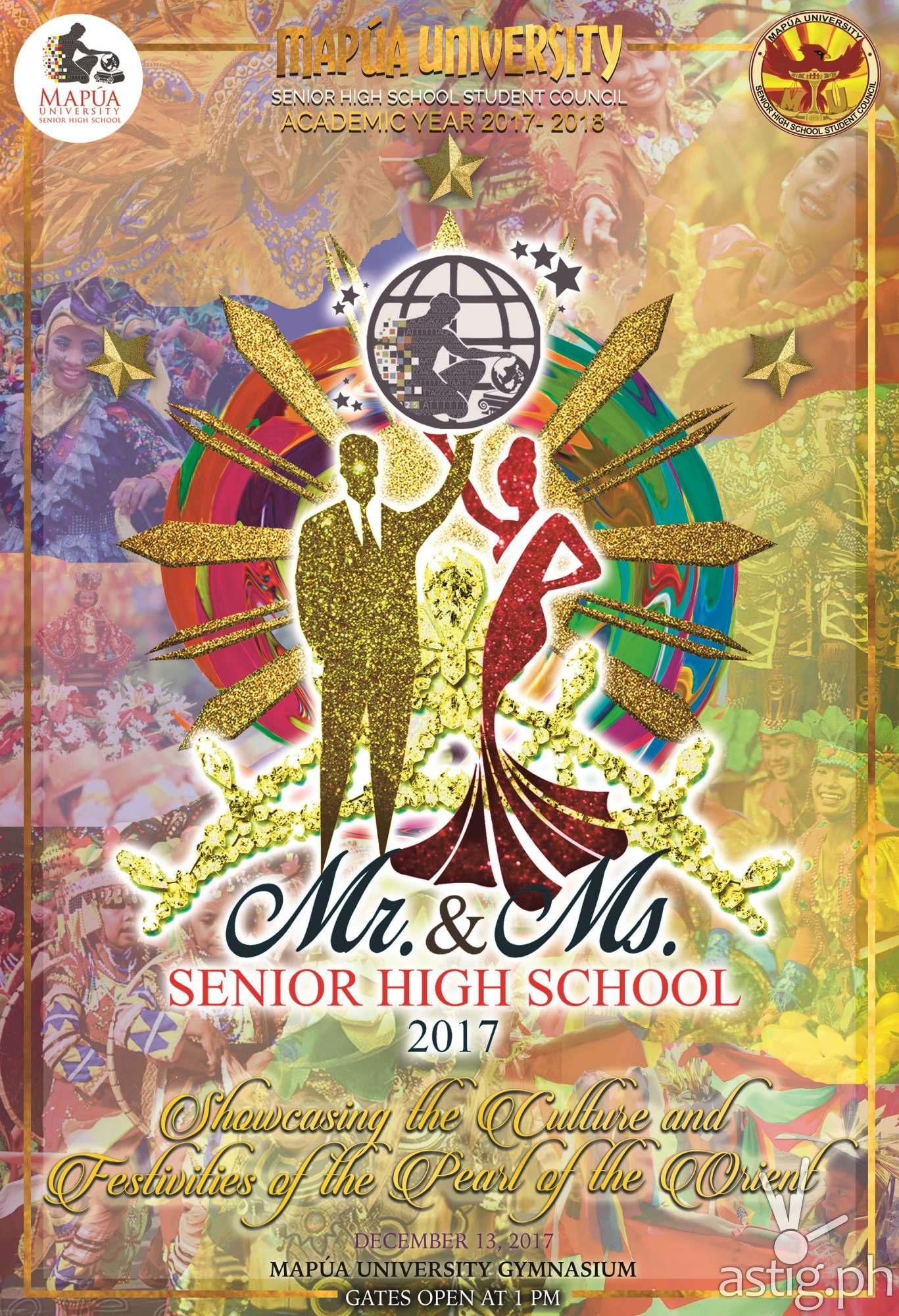 Mapúa University Mr. and Ms. Senior High School event poster