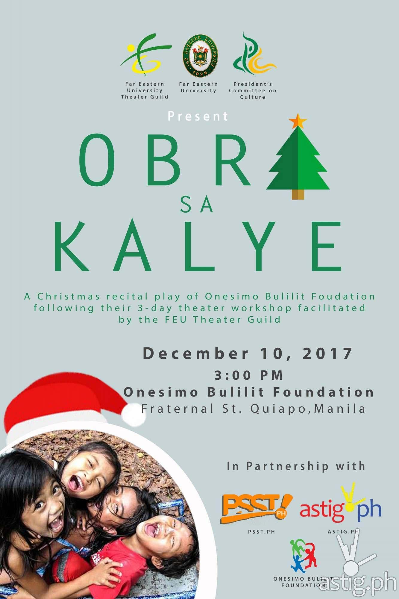 Obra sa Kalye event poster