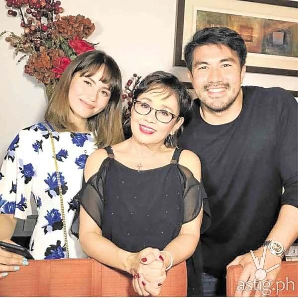 Jessy Mendiola, Vilma Santos, and Luis Manzano (via inquirer.net)