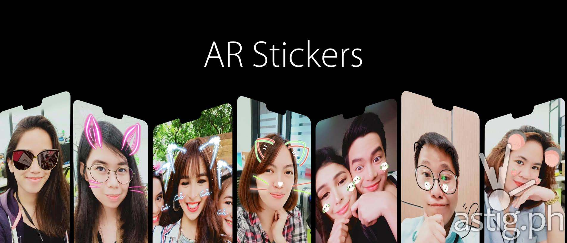 OPPO F7 AR Stickers
