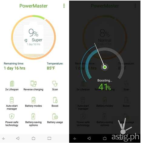 The Zenfone Max M1 comes with an exclusive built-in power and battery manager called the ASUS PowerMaster