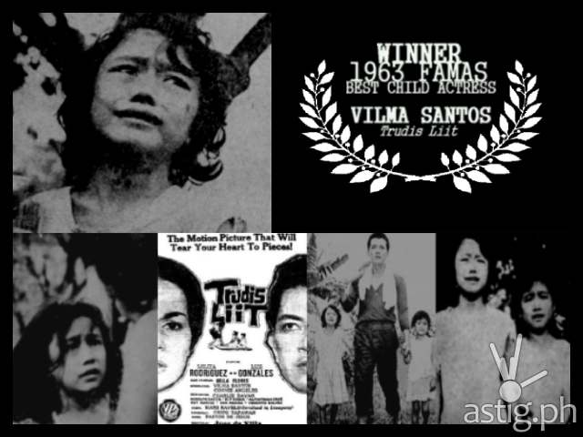 10 year-old Vilma Santos won Best Child actress in the 1963 film Trudis Liit (via starforallseasons.com)