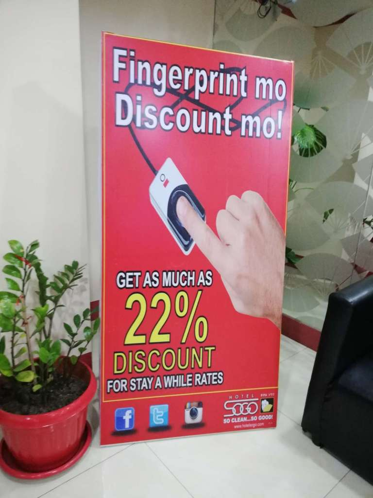 Hotel Sogo fingerprint discount