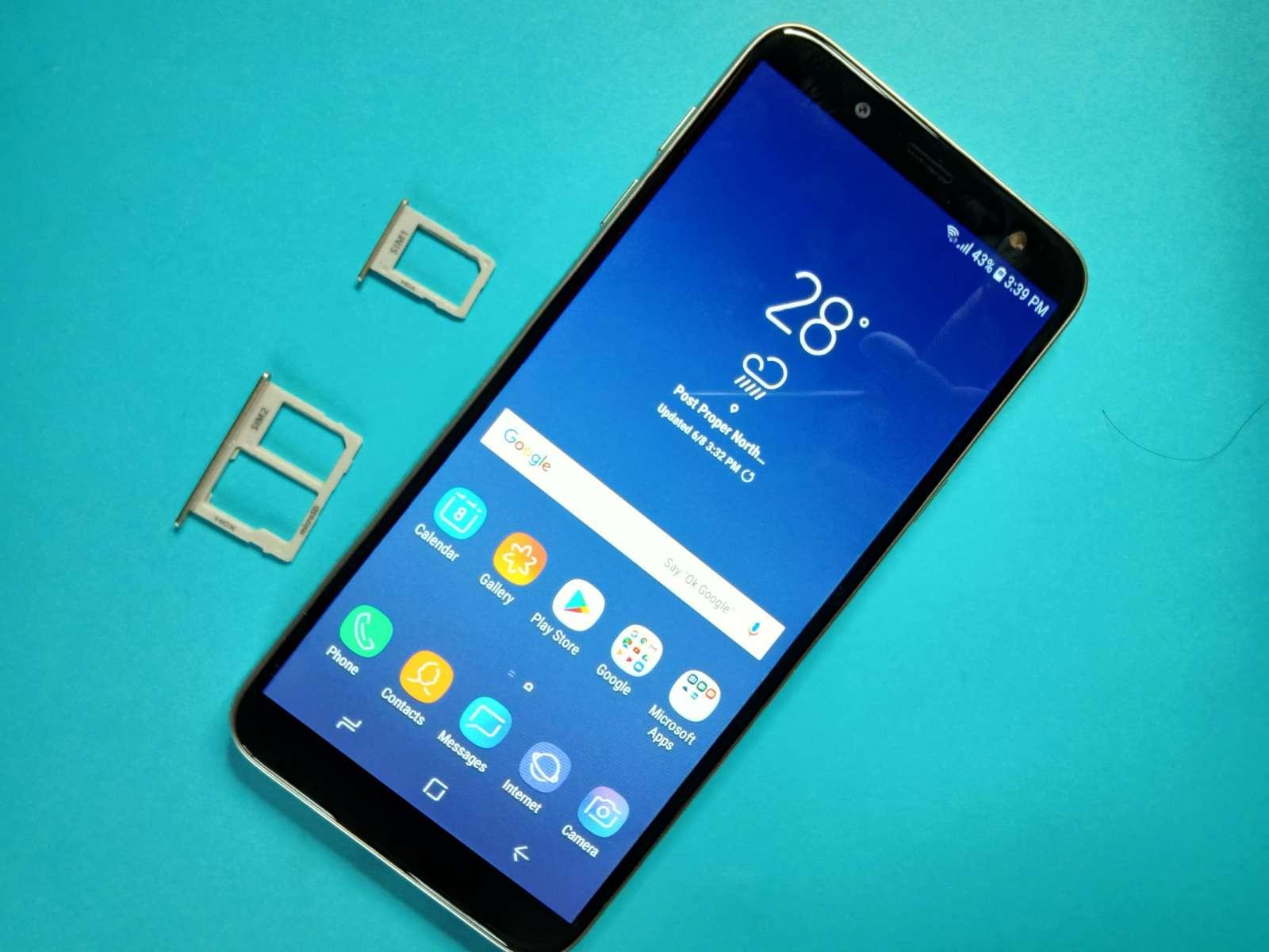 dual SIM tray - Samsung Galaxy J6