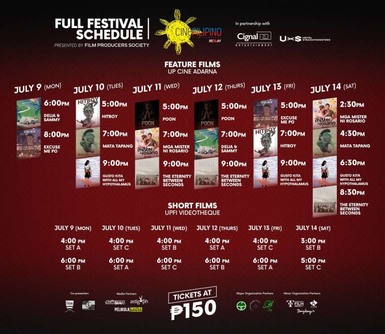 CineFilipino Replay Full Festival Schedule