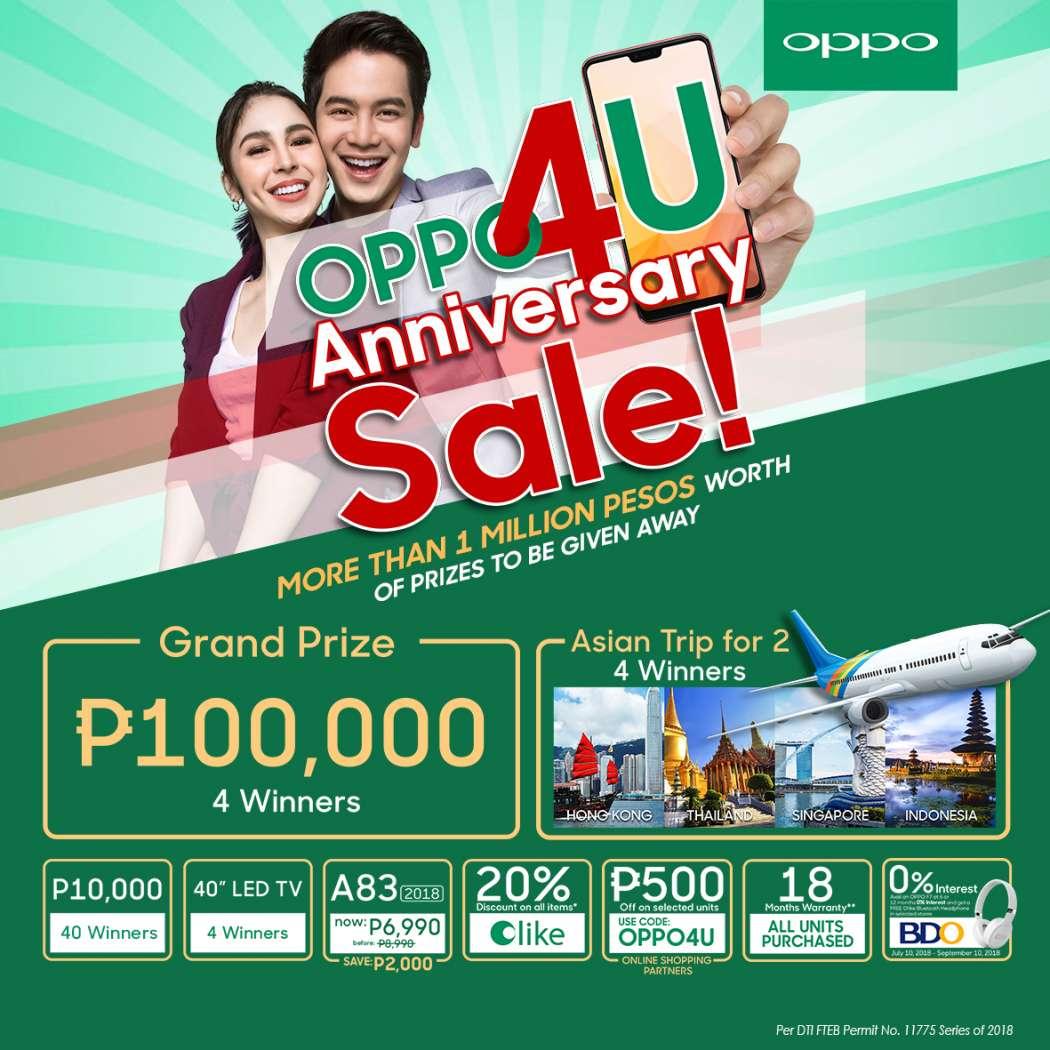 #OPPO4U 4th anniversary sale Philippines