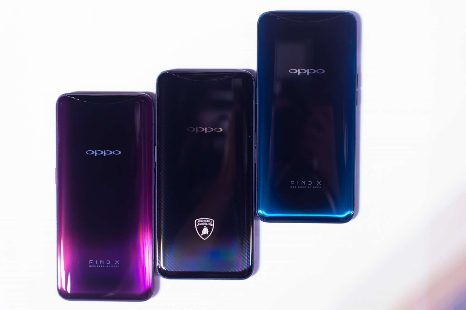 OPPO Find X red, blue, and Lamborghini edition - OPPO Find X Philippine launch