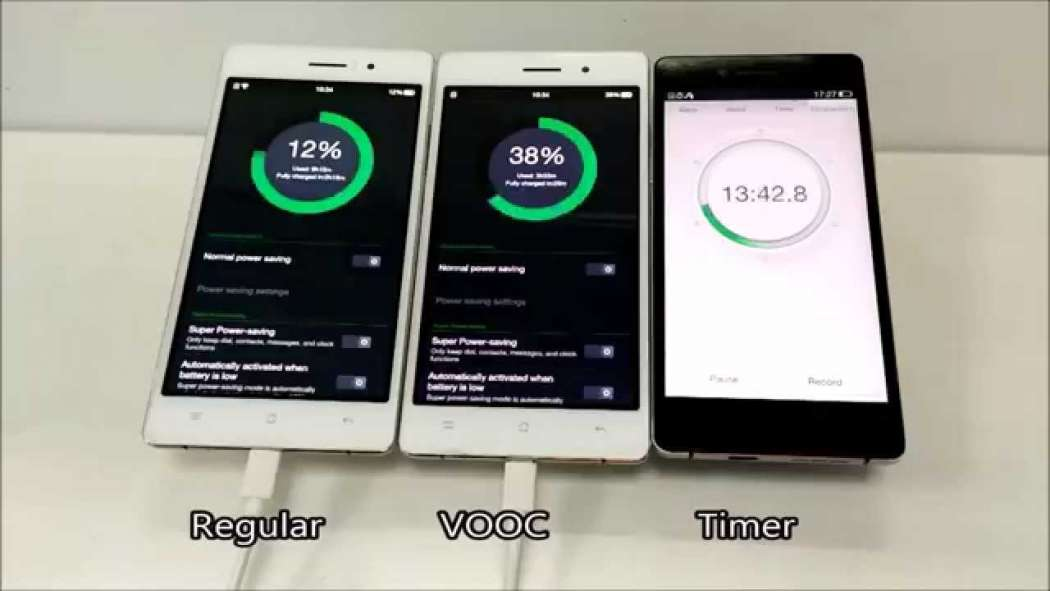 VOOC fast charge (photo: YouTube/GadgetsToUse)