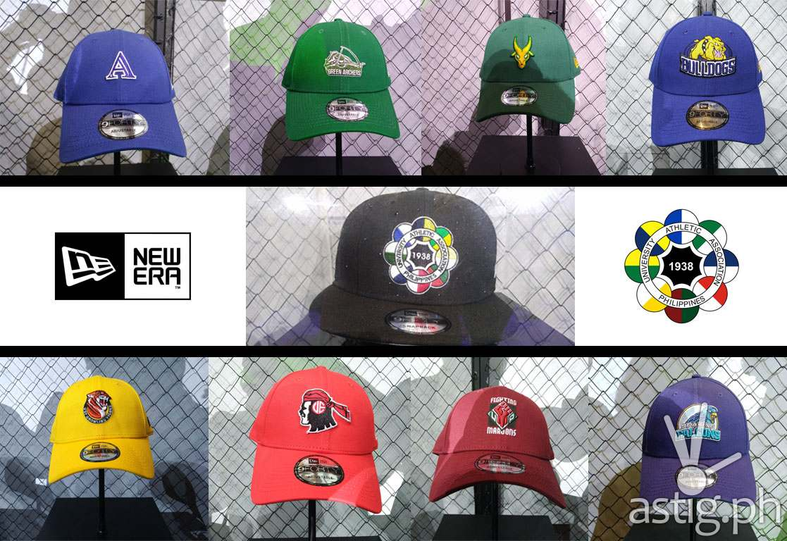 7c329e90ae8ef8 The New Era UAAP Collection comes in signature 9Forty silhouette, each cap  donning the university sports logo and primary color.
