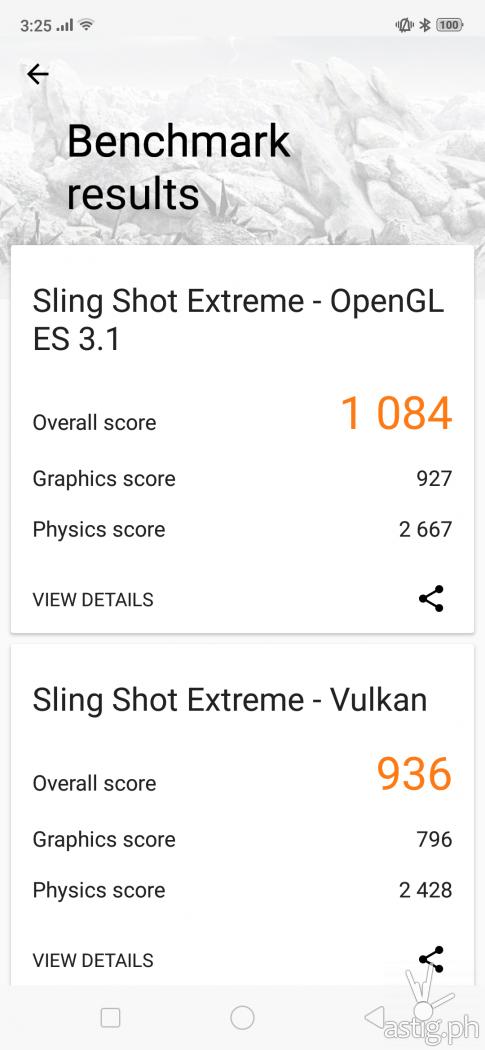3DMark benchmark results - OPPO F9