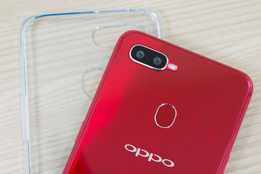 OPPO F9 camera fingerprint scanner jelly case