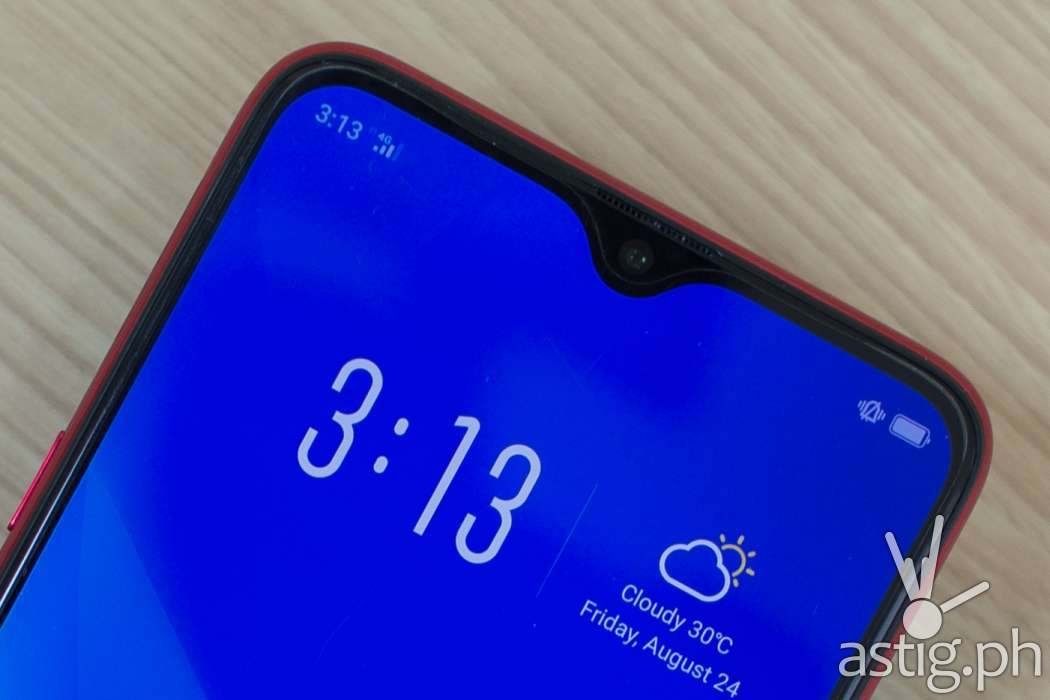 OPPO F9 waterdrop notch