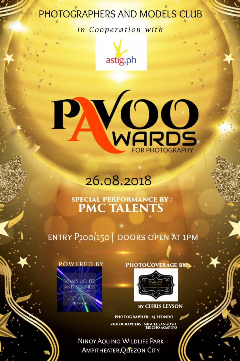 PAVOO AWARDS 2018 poster