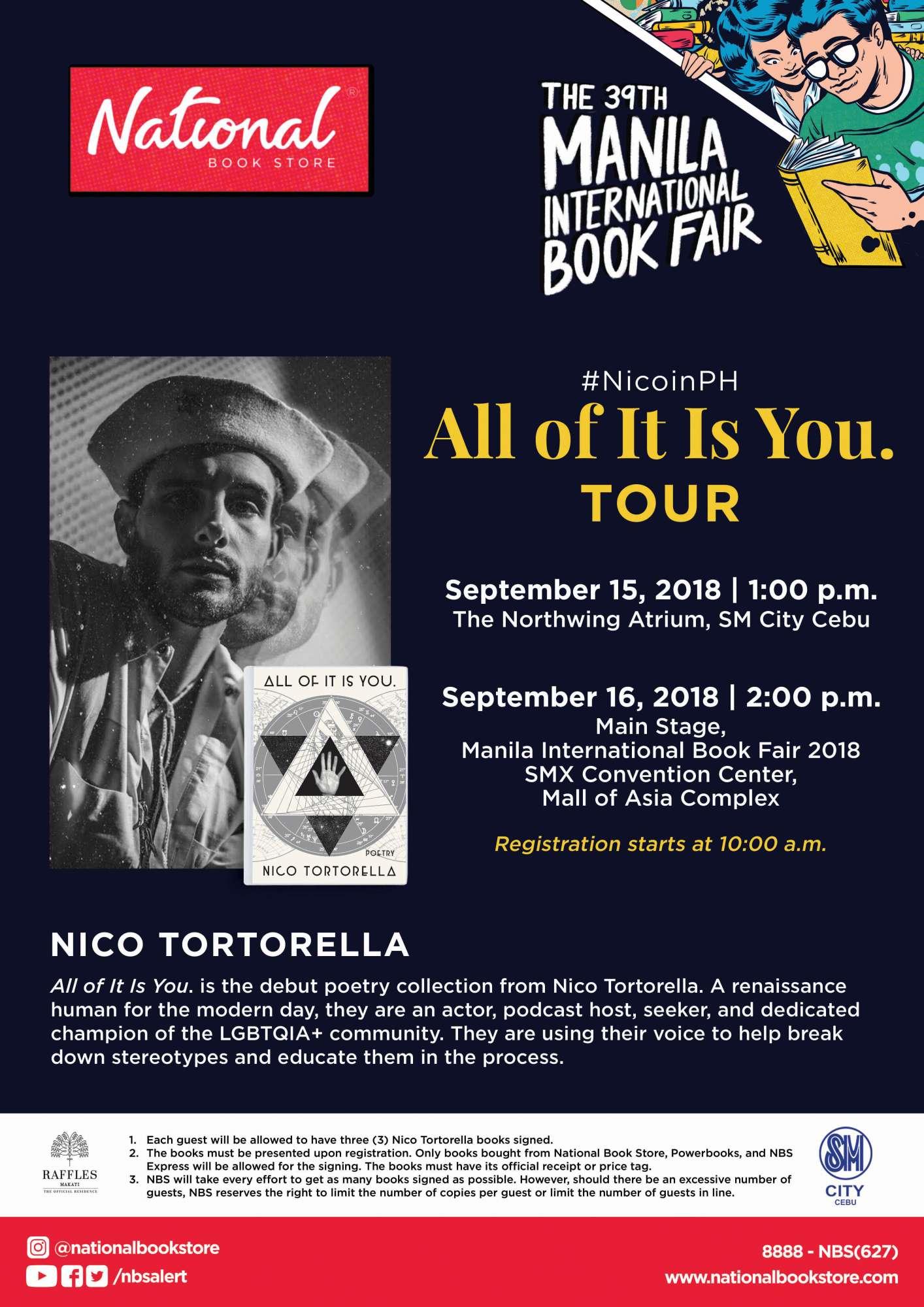 Nico Tortorella - MIBF 2018 poster