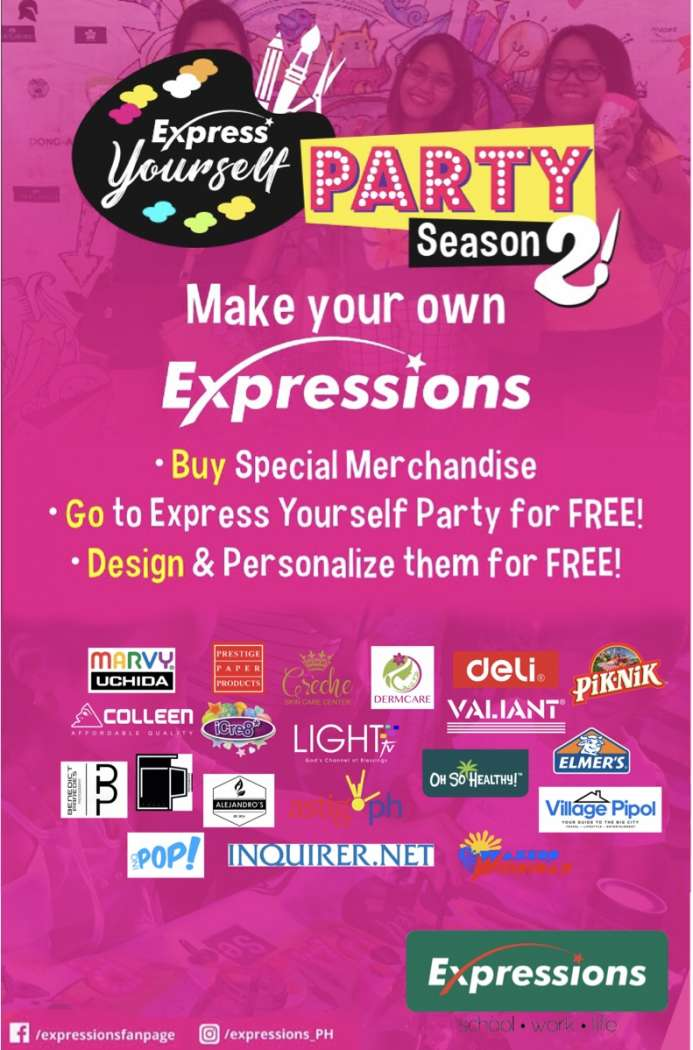 Make your own Expressions event poster