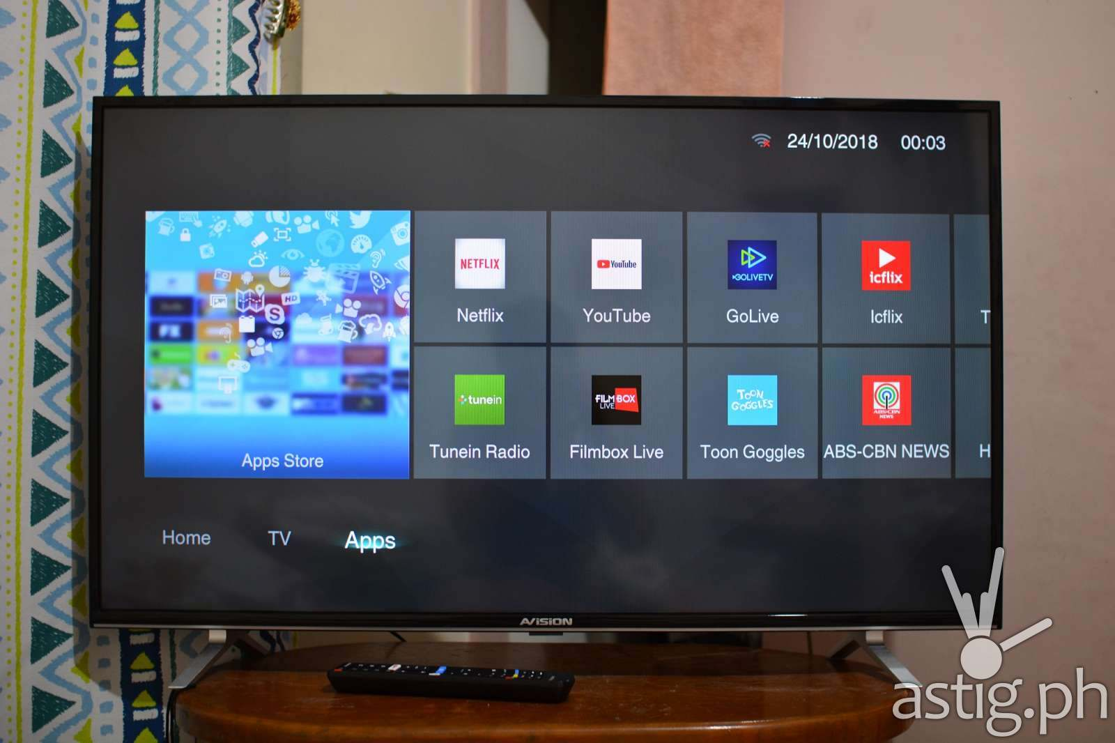 AVision 43FL801 Smart LED TV - Smart apps