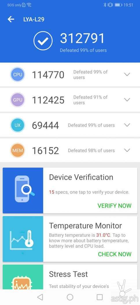 Huawei Mate 20 Pro benchmark results - Antutu