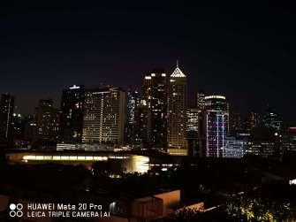 Huawei Mate 20 Pro sample photo - cityscape night mode 1x zoom
