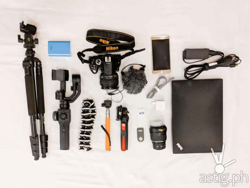 DSLR and smartphone photography and videography gear by Den Uy of TechKuya