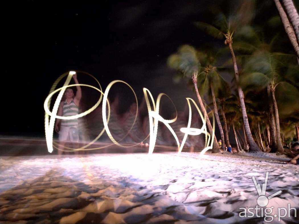 Light Painting - Boracay Philippines re-opening smartphone photo taken on an ASUS ZenFone 5 by Den Uy of TechKuya