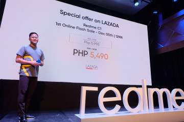 Eason de Guzman, PR Manager for Realme Philippines - Realme C1 Philippine launch