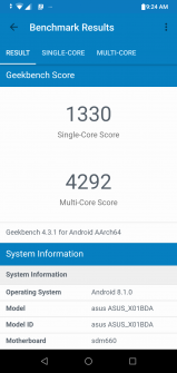 ZenFone Max Pro M2 performance benchmark results - Geekbench