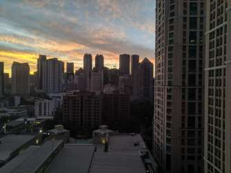 Zenfone Max Pro M2 photo sample - sunset cityscape