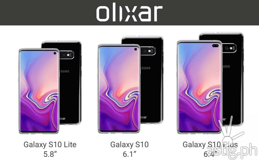 Samsung Galaxy S10 Lite, Samsung Galaxy S10, Samsung Galaxy S10 Plus leaked photo from Olixar cases