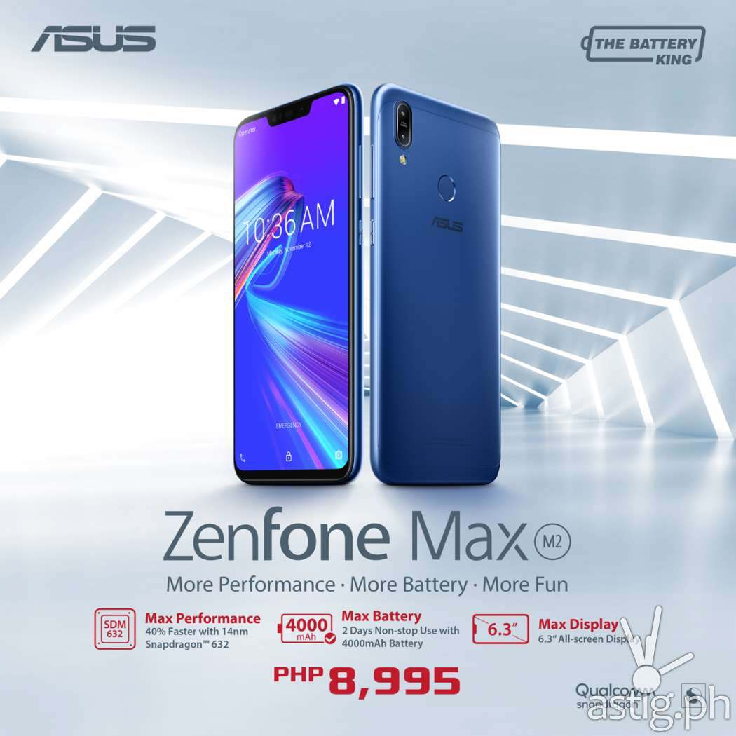 ZenFone Max M2 is officially in the Philippines