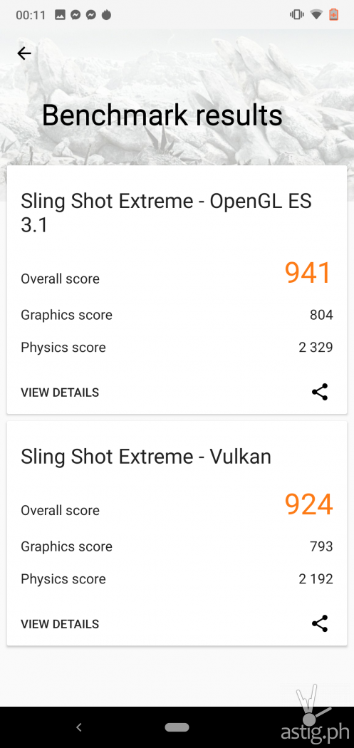 Gaming benchmark (3DMark) - Nokia 6.1 Plus (Philippines)