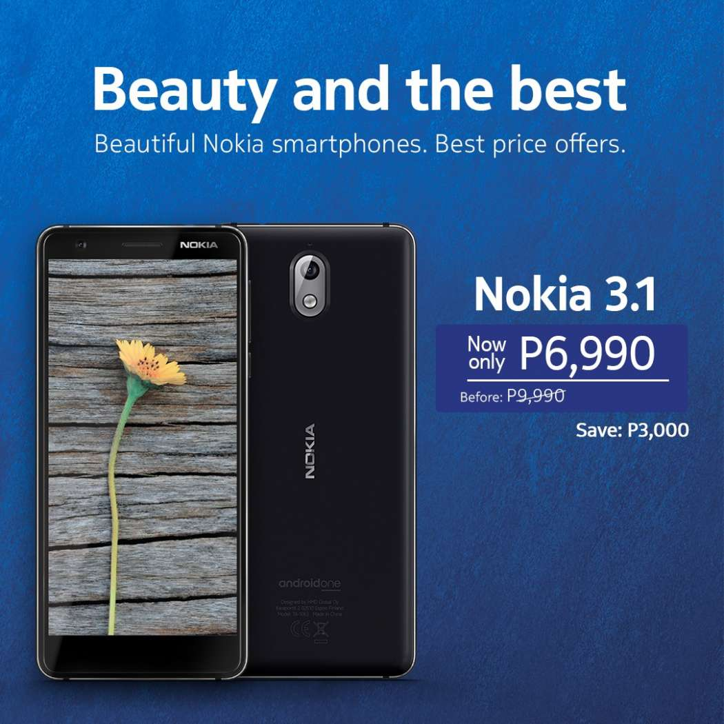 Nokia 3.1 price drop (Philippines)