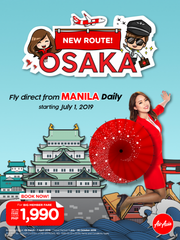 AirAsia Manila to Japan flight