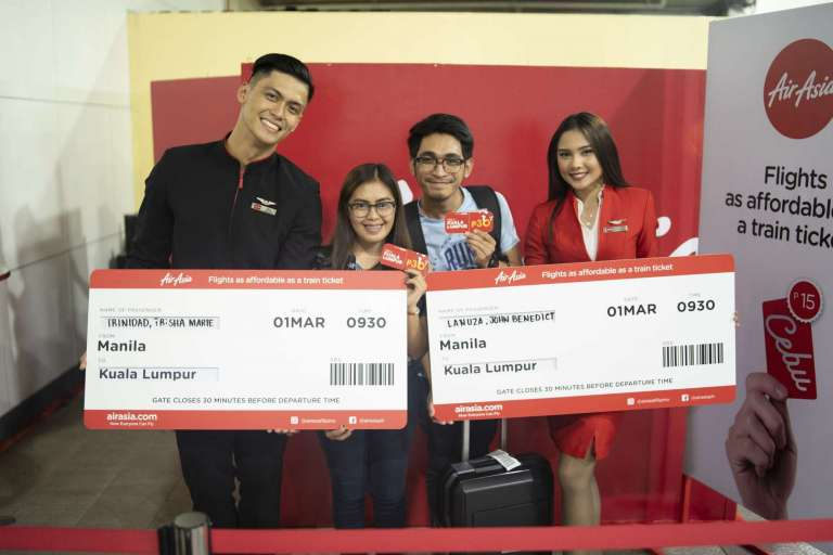 Domestic and international flights coming were given away with fares for as low as P15