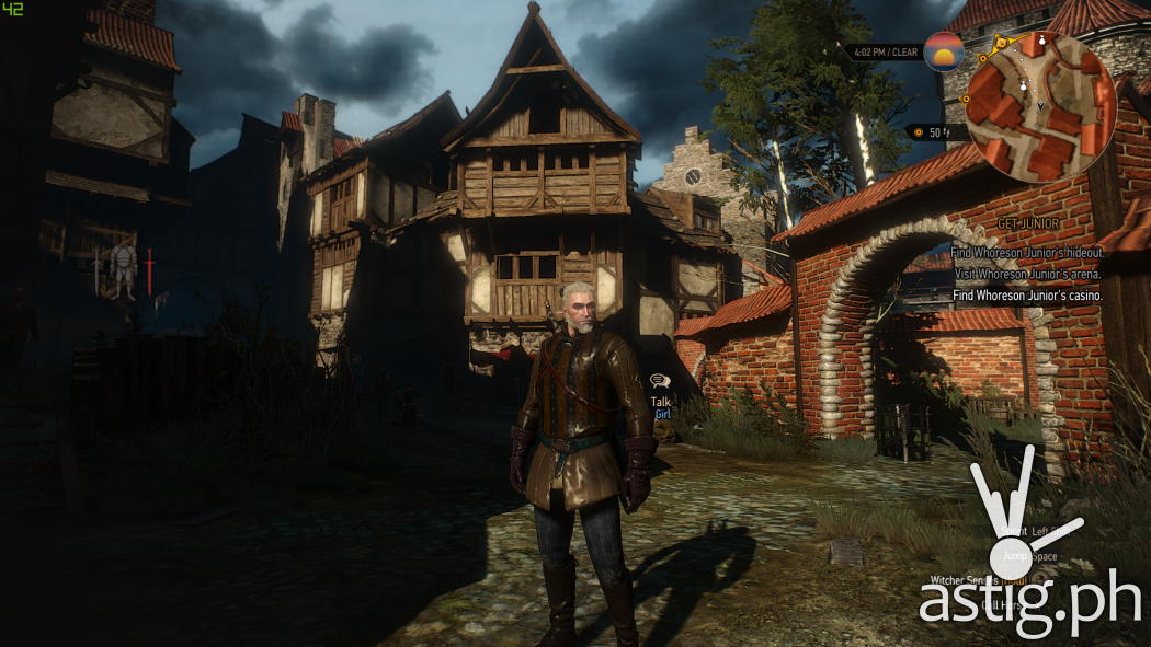 Witcher 3 medium settings with ultra textures - ASUS TUF Gaming FX705GE