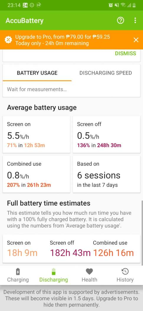 AccuBattery - Samsung Galaxy A20 (Philippines)