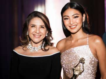 FAMAS Executive Producer Donna Sanchez with FAMAS Best Actress Nadine Lustre