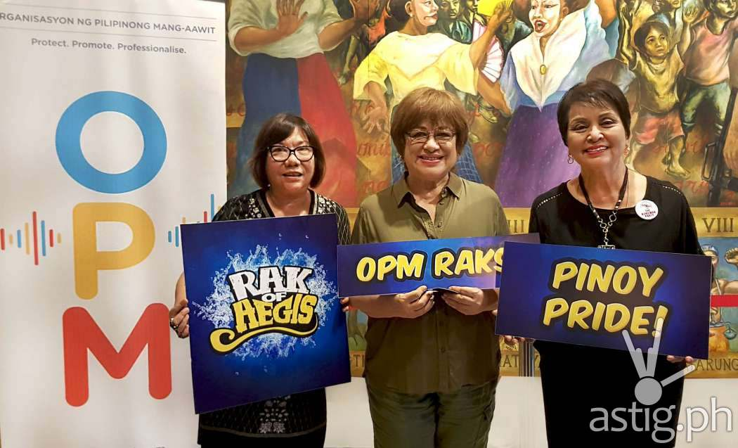 PETA Artistic Director Maribel Legarda and PETA President Cb Garrucho joined by OPM Chairman of the Board Mitch Valdez