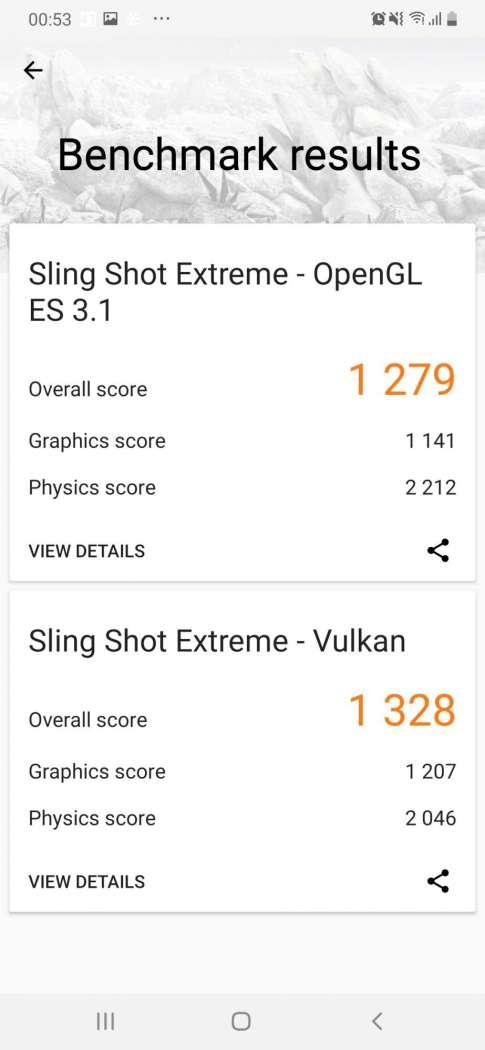 3DMark SlingShot Extreme - Samsung Galaxy A50
