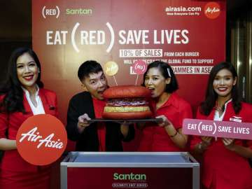 AirAsia in-flight meals RED burger