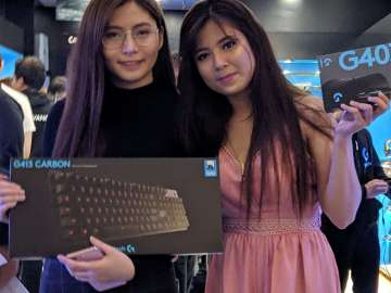 Jhanelle Fances Trias and Kim Pacheco at the Logitech G Concept Store opening held at SM North EDSA